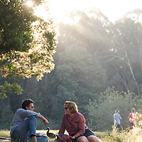 Picnic on the banks of Lake Daylesford