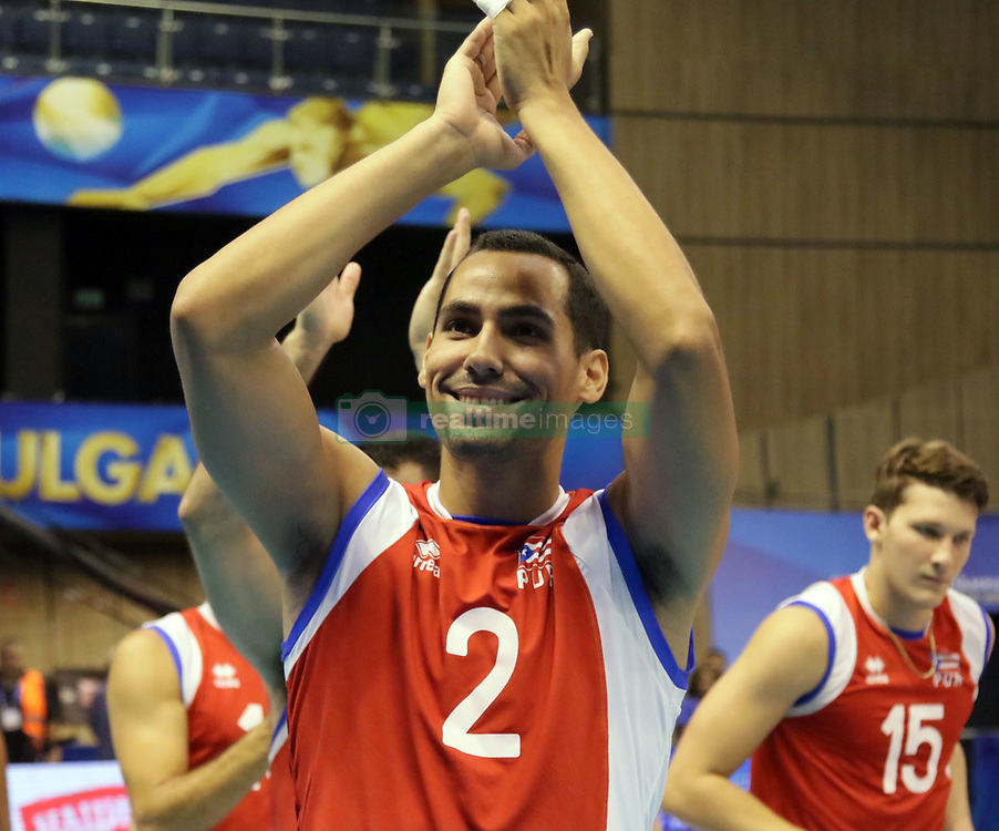 September 16, 2018 - Varna, Bulgaria - Edgardo GOAS (Puerto Rico), .FIVB Volleyball Men's World Championship 2018, pool D, Puerto Rico vs Finland, Sept 16, 2018, . Palace of Culture and Sport, Varna/Bulgaria, .the teams of Finland, Cuba, Puerto Rico, Poland, Iran and co-host Bulgaria are playing in pool D in the preliminary round. (Credit Image: © Wolfgang Fehrmann/ZUMA Wire)