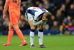March 9, 2019 - West Bromwich, England, United Kingdom - Dwight Gayle of West Bromwich Albion distrot after his missed goal opportunity during the Sky Bet Championship match between West Bromwich Albion and Ipswich Town at The Hawthorns, West Bromwich on Saturday 9th March 2019. (Credit Image: © Leila Coker/NurPhoto via ZUMA Press)