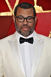 Jordan Peele walking on the red carpet during the 90th Academy Awards ceremony, presented by the Academy of Motion Picture Arts and Sciences, held at the Dolby Theatre in Hollywood, California on March 4, 2018. (Photo by Sthanlee Mirador/Sipa USA)