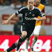 Besiktas's Fabian Ernst On or with the ball (stood full) during their Turkish superleague soccer derby match Galatasaray between Besiktas at the TT Arena at Seyrantepe in Istanbul Turkey on Sunday, 26 February 2012. Photo by TURKPIX