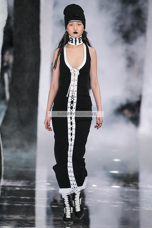 Wangy Xin Yu walks the runway wearing PUMA x FENTY by Rihanna Fall 2016 during New York Fashion Week on February 12, 2016