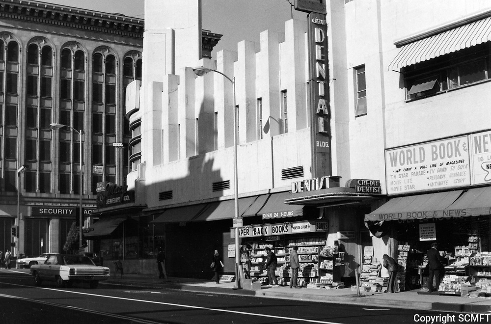 1977 World Book & News store and sidewalk newsstand on the east side of Cahuenga Blvd., just south of Hollywood Blvd.