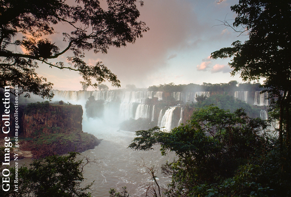 Iguacu Falls stretches for two miles.