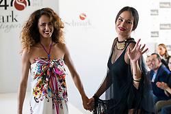 15.10.2015, Circulo de Bellas Artes, Madrid, ESP, Senmark Jubiläums Fashion Show, im Bild Monica Estarreado and Mireia Canalda // during the Senmark 40th. Aniversary Fashion Show at the Circulo de Bellas Artes in Madrid, Spain on 2015/10/15. EXPA Pictures © 2015, PhotoCredit: EXPA/ Alterphotos/ BorjaB.hojas<br /> <br /> *****ATTENTION - OUT of ESP, SUI*****
