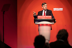 © Licensed to London News Pictures. 26/09/2018. Liverpool, UK. Shadow Secretary of State for Health Jonathan Ashworth MP speaks at the Labour Party Conference 2018. Photo credit: Rob Pinney/LNP