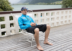 23.05.2016, Hotel Ambach, Kaltern, AUT, OeSV, Nordische Kombination, Trainingslager, im Bild Sepp Schneider (AUT) // Sepp Schneider of Austria during a Photocell of Austrian Ski federation Nordic Combined Team at the Hotel Ambach, Kaltern, Italy on 2015/05/23. EXPA Pictures © 2016, PhotoCredit: EXPA/ Johann Groder