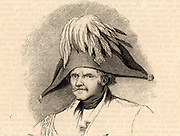 Gebhardt Lebrecht von Blucher (1742-1819) Prussian soldier. Created field marshal after success at the Battle of Leipzig (1813). Made a significant contribution to Wellington's victory over the French under Napoleon at the Battle of Waterloo (1815).  Engraving.