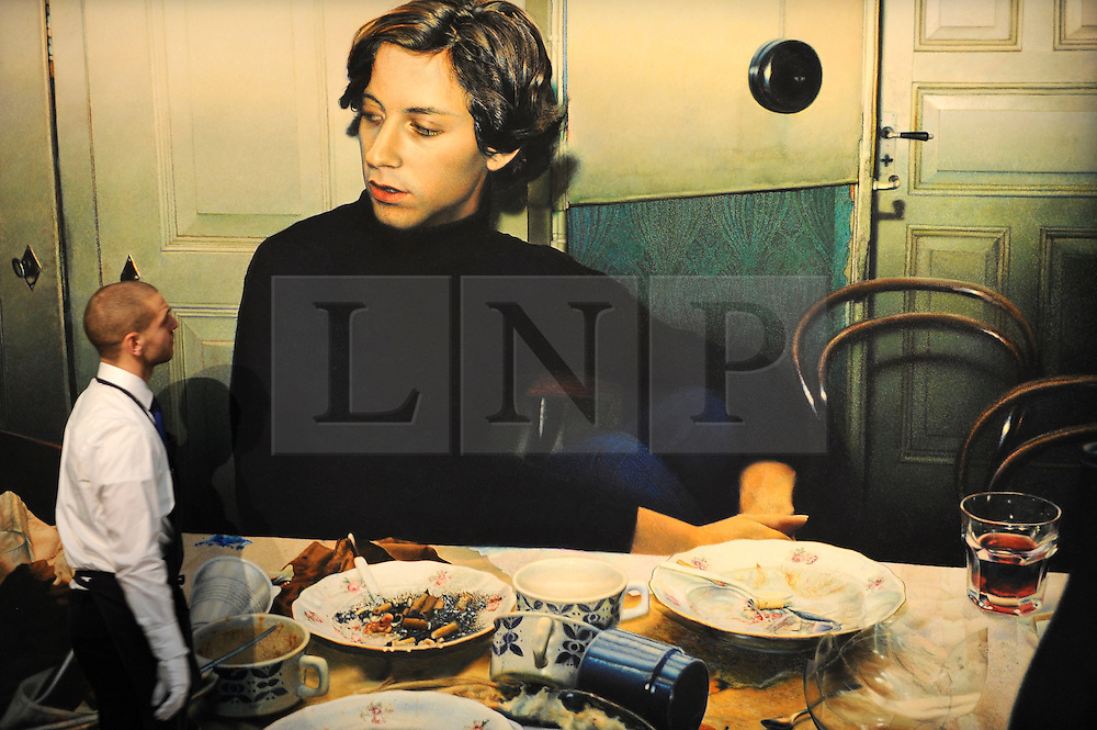 ©London News pictures...31.01.2011. Franz Gertsch's Luciano is estimated to fetch 500-700 thousand pounds.Highlights of upcoming Sotheby's sales of impressionist and modern art and contemporary art. Works on show include a Picasso portrait of his mistress and muse Marie-Therese, from 1932 which is estimated to fetch £12 to £18 million, a private commission by Marc Chagall - never before seen on the market - estimated to fetch in excess of £10m and a Hockney painting estimated at £1 to £1.5m. . Picture Credit should read Stephen Simpson/LNP