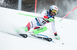 """Denise Feierabend (SUI) competes during 1st Run of FIS Alpine Ski World Cup 2017/18 Ladies' Slalom race named """"Snow Queen Trophy 2018"""", on January 3, 2018 in Course Crveni Spust at Sljeme hill, Zagreb, Croatia. Photo by Vid Ponikvar / Sportida"""