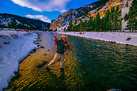 Fly fishing, Gallatin River, Montana (near Yellowstone National Park)