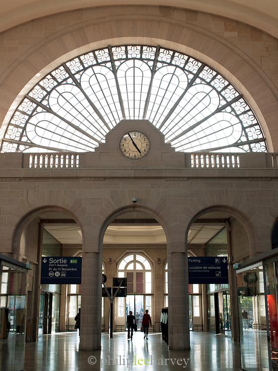 Main entrance to Gare de L'Est, Paris, France