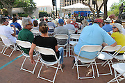Plaza Stage audience at the 2013 Tucson Folk Festival.