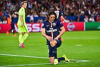 Deception Edinson CAVANI - 15.04.2015 - Paris Saint Germain / Barcelone - 1/4Finale Aller Champions League<br />Photo : Dave Winter / Icon Sport