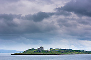 Sound of Mull and Duart Castle (home of Maclean clan) on Isle of Mull in the Inner Hebrides and Western Isles, West Coast of Scotland