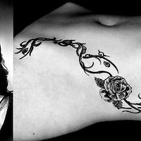 Nederland, Nieuwegein, 24-04-2013.<br /> Bibiane Schoofs, tennister, met haar tattoo.<br /> Foto : Klaas Jan van der Weij
