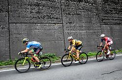 Nikolai Cherkasov (RUS) of Gazprom - Rusvelo, Matic Groselj (SLO) of Ljubljana Gusto Santic and Aljaz Jarc (SLO) of Adria Mobil during 1st Stage of 26th Tour of Slovenia 2019 cycling race between Ljubljana and Rogaska Slatina (171 km), on June 19, 2019 in  Slovenia. Photo by Vid Ponikvar / Sportida