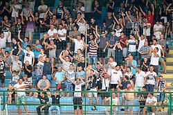Fans of NS Mura celebrates during football match between NS Mura and NK Domzale in 3rd Round of Prva liga Telekom Slovenije 2018/19, on Avgust 05, 2018 in Mestni stadion Fazanerija, Murska Sobota, Slovenia. Photo by Mario Horvat / Sportida