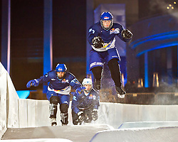 03-02-2012 SKATING: RED BULL CRASHED ICE WORLD CHAMPIONSHIP: VALKENBURG<br /> Bas Wijnhoven NED during a training session<br /> ©2012-FotoHoogendoorn.nl/Peter Schalk
