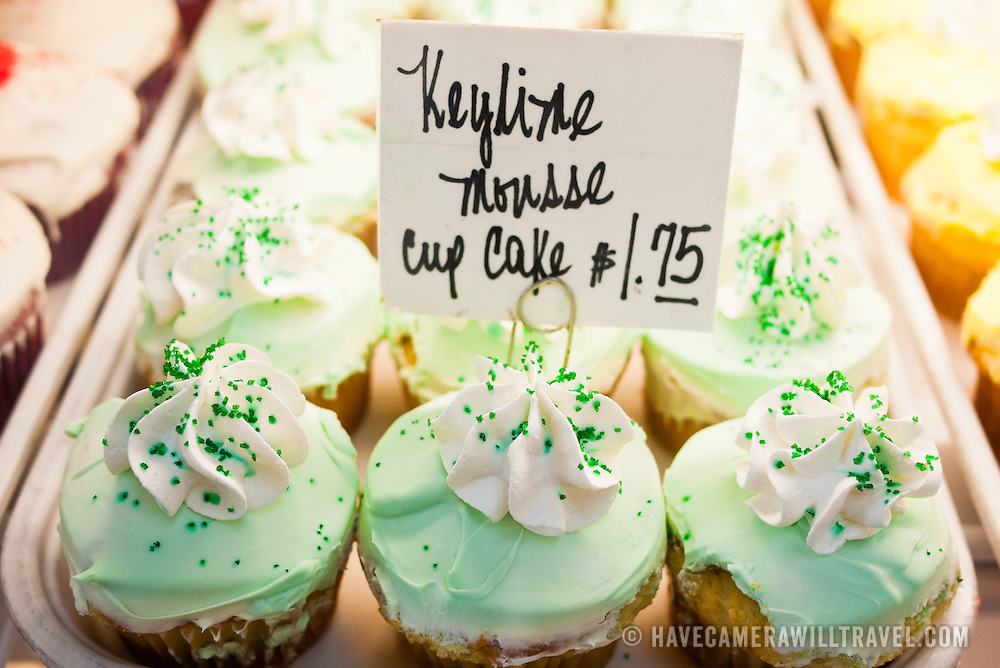 Cupcakes for sale at the newly restored Eastern Market in Washington DC on Capitol Hill. Badly damaged by an early-morning fire on April 30, 2007, the market building reopened on June 26, 2009.