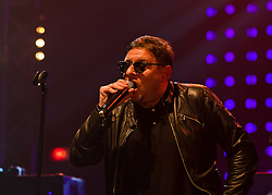 © Licensed to London News Pictures. 10/05/2012. London, UK.  Happy Mondays perform live at O2 Academy Brixton.  In picture - Shaun Ryder (vocals).  Photo credit : Richard Isaac/LNP
