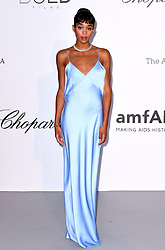 Laura Harrier attending the 25th amFAR Gala held at the Hotel du Cap-Eden-Roc in Antibes as part of the 71st Cannes Film Festival