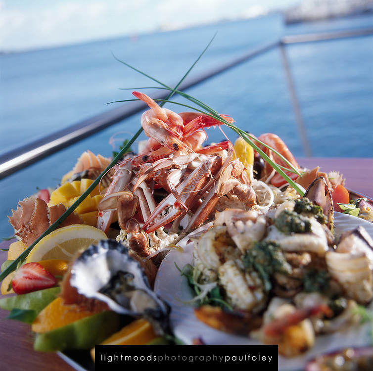 Seafood Platter on balcony overlooking water