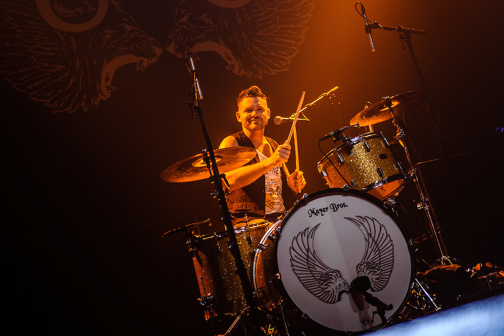 Band Rival Sons performing live at the Rockhal concert venue in Luxembourg, Europe on July 4, 2013