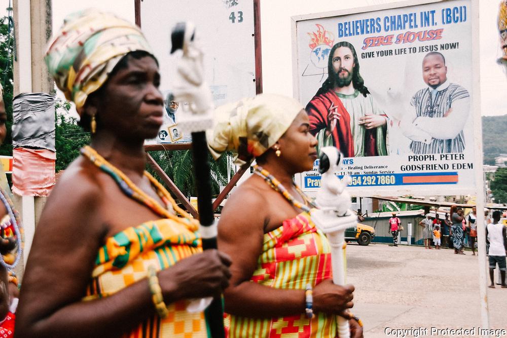 Urban Scene During the Yam Festival by Antoinette Dumegah