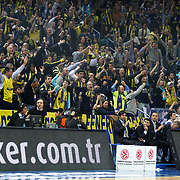 Fenerbahce Ulker's suppoters during their Turkish Airlines Euroleague Basketball Top 16 Group G Game 2 match Fenerbahce Ulker between EA7 Emporio Armani at Fenerbahce Ulker Sports Arena in Istanbul, Turkey, Wednesday, January 25, 2012. Photo by TURKPIX