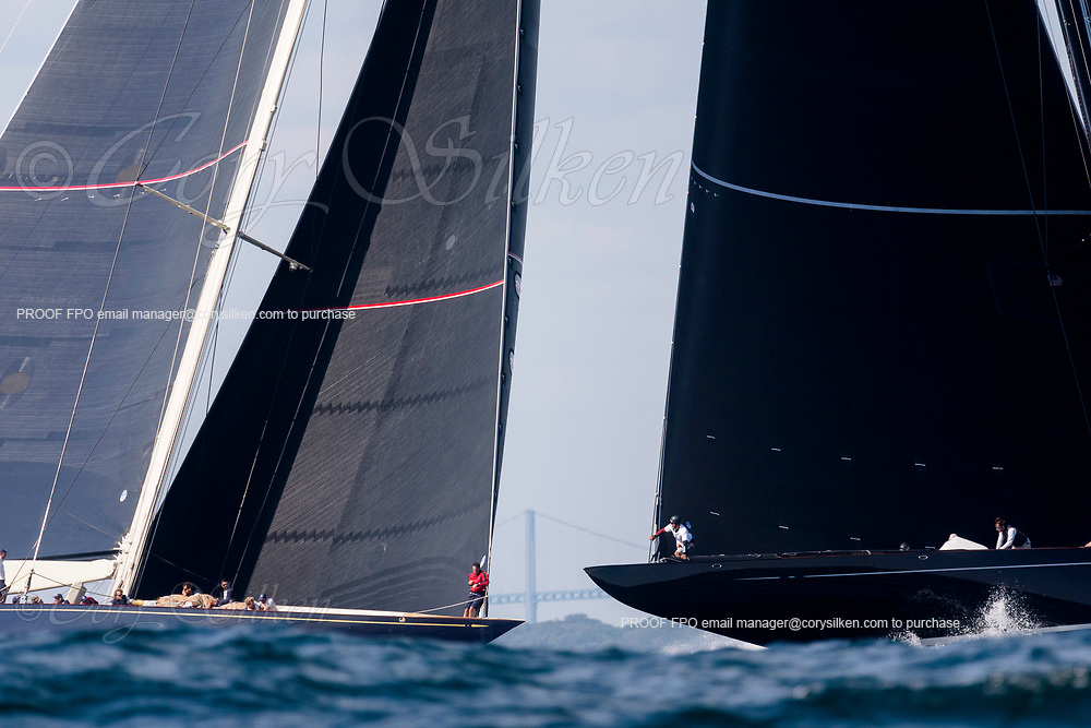 Lionheart and Velsheda sailing in the J Class World Championship.