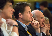 © Licensed to London News Pictures. 14/03/2015. Liverpool, UK . Nick Clegg, Vince Cable. The Liberal Democrat Spring Conference in Liverpool 14th March 2015. Photo credit : Stephen Simpson/LNP