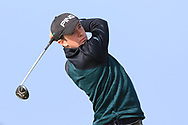 Harry Gillivan on the 1st tee during Round 4 of The West of Ireland Open Championship in Co. Sligo Golf Club, Rosses Point, Sligo on Sunday 7th April 2019.<br /> Picture:  Thos Caffrey / www.golffile.ie