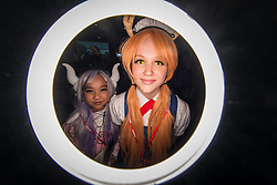 August 19, 2017 - Sydney, Australia - A ring flash view of cosplayers seen during the SMASH Convention (Sydney Manga and Anime Show). SMASH is the biggest pop culture convention in Australia, dedicated to artists, and creators in the creative industry, focusing on comics, games, toys, films, and animations. (Credit Image: © Hugh Peterswald/Pacific Press via ZUMA Wire)