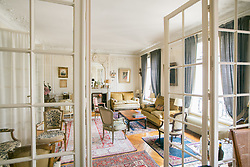 Interior of 17th century apartment, 16th Arrondisement, Paris, France. 08/05/14. Photo by Andrew Tallon