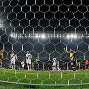 Fenerbahce's Emre Belozoglu scores during their Turkish superleague soccer match Kayserispor Erciyesspor between Fenerbahce at Kadir Has Stadium in Kayseri Turkey on Friday 19 December 2014. Photo by Kurtulus YILMAZ/TURKPIX