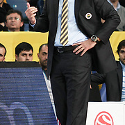 Fenerbahce Ulker's coach Neven Spahija during their Euroleague Basketball Game 7 match Fenerbahce Ulker between Olympiacos at Sinan Erdem Arena in Istanbul, Turkey, Thursday, December 01, 2011. Photo by TURKPIX