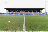 Stadium view before the EFL Sky Bet League 2 match between Mansfield Town and Grimsby Town FC at the One Call Stadium, Mansfield, England on 4 January 2020.