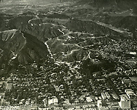 1929 Looking north at the Hollywood Hills