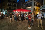 In La Vucciria market. Street food
