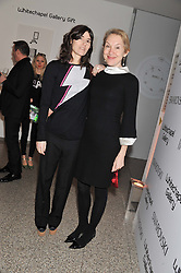 Left to right, BELLA FREUD and JUSTINE PICARDIE at the Swarovski Whitechapel Gallery Art Plus Fashion fundraising gala in support of the gallery's education fund held at The Whitechapel Gallery, 77-82 Whitechapel High Street, London E1 on 14th March 2013