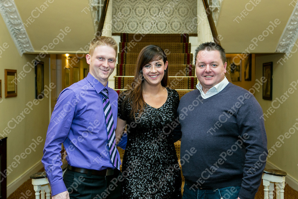 Pictured at the 50th Anniversary Celebrations of Bridge Celtic Soccer Club were:<br /> William Slattery, Emer Griffin & sean Flemming.. <br /> Pictured Credit Brian Gavin Press 22