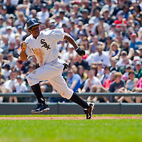 Chicago, IL - June 05, 2011:  Whit Sox, Juan Pierre (1), plays against the visiting Detroit Tigers at U.S. Cellular Field on June 5, 2011 in Chicago, IL.