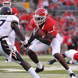 Sep 7, 2009; Piscataway, NJ, USA;  Rutgers wide receiver Mohamed Sanu (6) avoids tacklers during the second half as Cincinnati defeats Rutgers 47-15 in NCAA Big East football at Rutgers Stadium.
