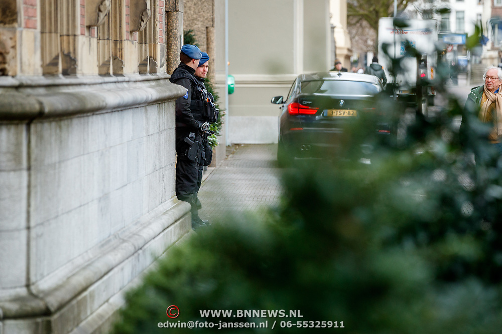 NLD/Den Haag/20180117 - Beveiliging 2de kamer in den Haag door Koninklijke Marechaussee,