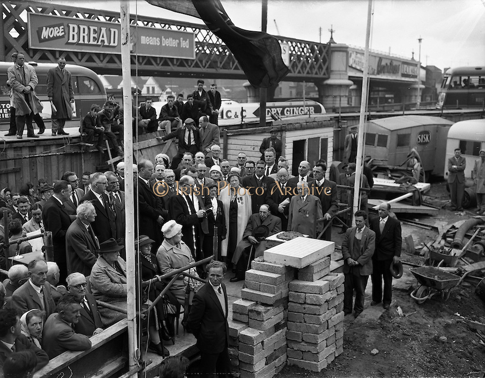 12/05/1962<br /> 05/12/1962<br /> 12 May 1962<br /> Liberty Hall foundation stone laid. Pryers before the laying.
