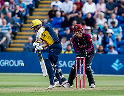 David Lloyd of Glamorgan in action today <br /> <br /> Photographer Simon King/Replay Images<br /> <br /> Vitality Blast T20 - Round 1 - Glamorgan v Somerset - Thursday 18th July 2019 - Sophia Gardens - Cardiff<br /> <br /> World Copyright © Replay Images . All rights reserved. info@replayimages.co.uk - http://replayimages.co.uk