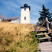 Stairs tto the lighthouse at Hockamock Head. Swan's Island, Maine.