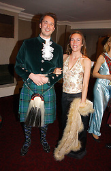 JAMES DU BOULAY and LAURA McNAUGHT at  the Royal Caledonian Ball held at The Grosvenor House Hotel, Park Lane, London on 5th May 2006.<br /><br />NON EXCLUSIVE - WORLD RIGHTS