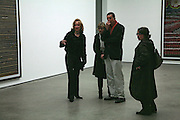 Louise Macbain and Mr. and Mrs. Anthony Gormley, Andreas Gursky, White Cube, Mason's Yard. London. 22 March 2007.   -DO NOT ARCHIVE-© Copyright Photograph by Dafydd Jones. 248 Clapham Rd. London SW9 0PZ. Tel 0207 820 0771. www.dafjones.com.